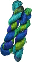 Knitsilk Brand 100% Pure Mulberry Silk Yarn 50 gram 3 Ply Lace Weight | Great for knitting, crochet, weaving, mixed media (Plumbago)