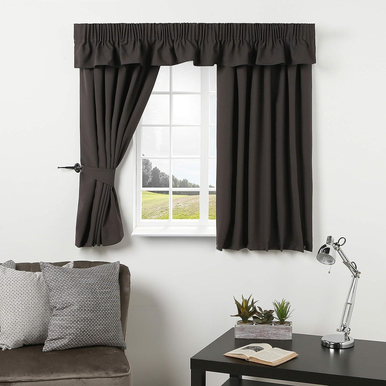 Caravan Curtain Dark Grey Curtains Door Curtain Pelmet Valance Includes Tie Backs Perfect For Caravan Motorhome Campervans 44 Width X 42 Drop Amazon Co Uk Kitchen Home