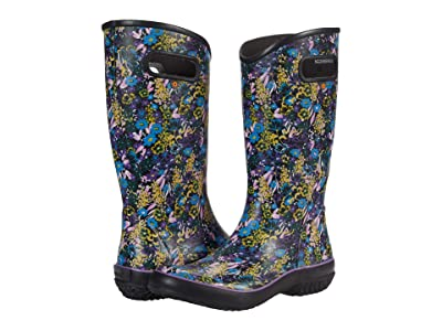 Bogs Rain Boots Night Garden (Black Multi) Women