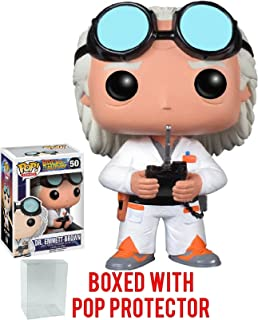 Funko Pop! Movies: Back to the Future - Dr. Emmett Brown Vinyl Figure (Bundled with Pop Box Protector Case)