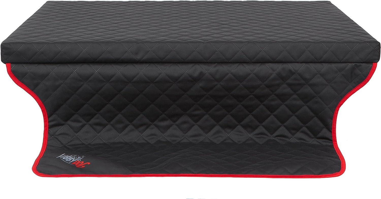 HOBBYDOG R1 Light Dog Mattress Bed Sofa Suitable for Trunks, 90 x 70 cm, Black