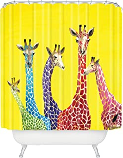"Deny Designs Clara Nilles Jellybean Giraffes Shower Curtain, 69"" x 72"""