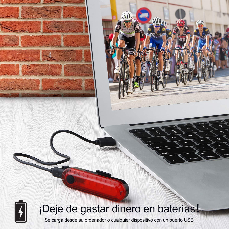 Volcano Eye Luz Trasera de Bicicleta, Luces Trasera USB Recargable ...