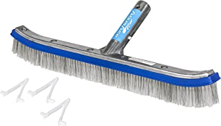 AquaAce Premium Combo Nylon/Stainless Steel Wire Bristle Pool Brush | Heavy Duty with Mixed Bristles Extra Scrubbing Power...