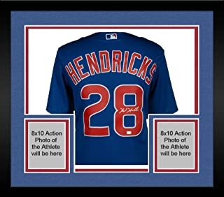 Framed Kyle Hendricks Chicago Cubs Autographed Majestic Blue Replica Jersey - Fanatics Authentic Certified