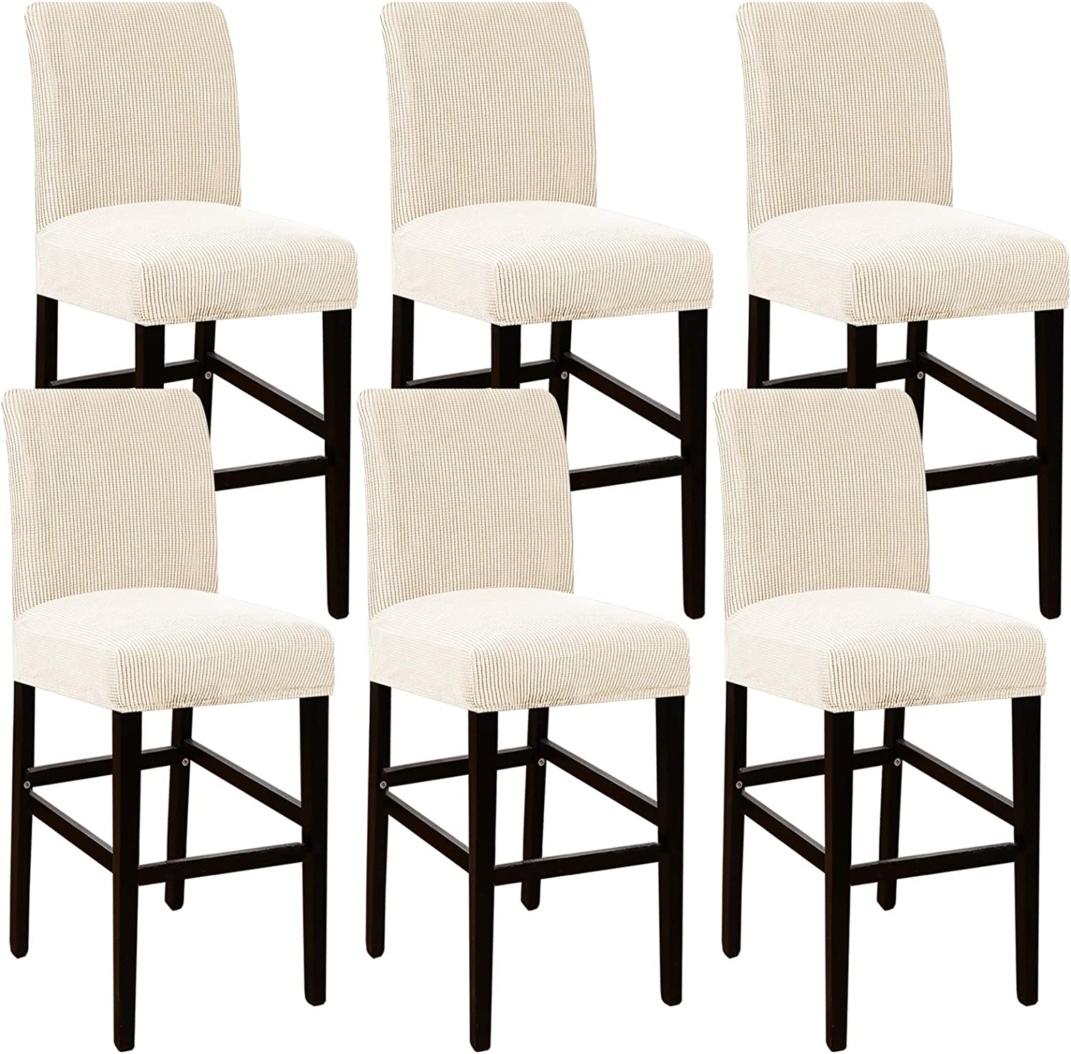 High Stretch Bar Stool Raleigh Mall Cover Safety and trust Counter f Pub Chair Slipcover