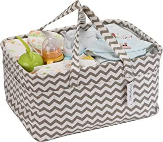 Hinwo Baby Diaper Caddy 3-Compartment Infant Nursery Tote Storage Bin Portable Car Organizer Newborn Shower Basket with De...
