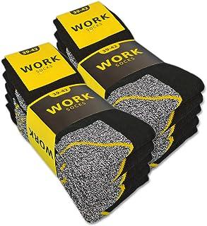 sockenkauf24, 10 o 20 Pares Calcetines Trabajo Hombre WORK