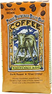 Raven's Brew Whole Bean 3 Peckered Billy Goat Blend,Dark Roast 12-Ounce Bags (Pack of 2)