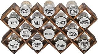 Kamenstein 5239105 Criss Cross 14-Jar Spice Rack, Silver