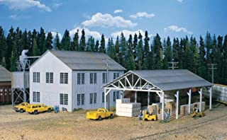 """Walthers, Inc. Planning Mill and Shed Kit, 6 X 8 X 5-3/4"""" 15 X 20 X 14.3cm"""