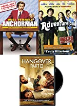 Deliver the Comedy Guy 3 Favorites Will Ferrell Anchorman Legend of Ron Burgundy + Hangover 2 & Adventureland DVD Triple Feature Collection