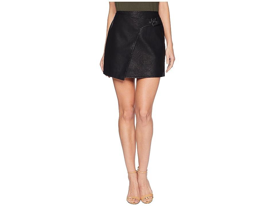 Jack by BB Dakota Fashion Killa Textured Vegan Leather Skirt (Black) Women