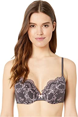 Love The Lift Plunge PU Lace Demi Bra