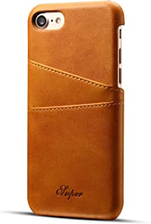 iPhone 8 iPhone 7 Wallet Case Synthetic Leather Slim Cover with 2 Card Slots