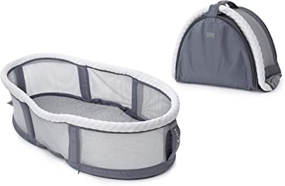 Baby Delight Snuggle Nest Peak Portable Bassinet, Grey