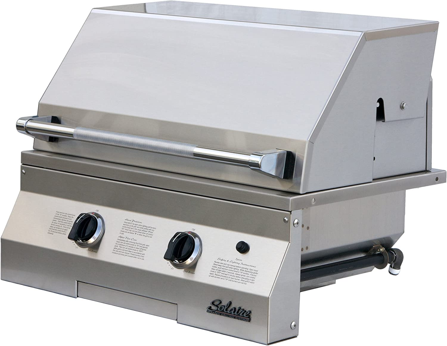 Solaire 27-Inch Basic Infrared Natural Stain Cheap super special price Gas Built-In Grill Cheap mail order specialty store