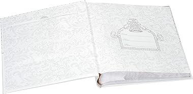 Malden International Designs I Do Wedding Collection 2-Up with Memo Space Photo Album, 160-4x6, White