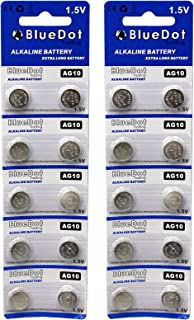 BlueDot Trading AG10 Batteries, 20 Count