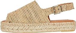Back Strap Platform Espadrille Sandal