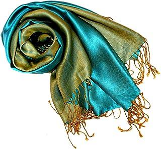 Lorenzo Cana Luxus Pashmina Damenschal Wendeschal 70% Seide 30% Viskose Schaltuch 70 x 190 cm zweifarbig Schal Stola Umschlagtuch wendbar Double Face
