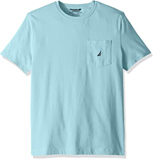 Nautica Men's Solid Crew Neck Short Sleeve Pocket T-Shirt