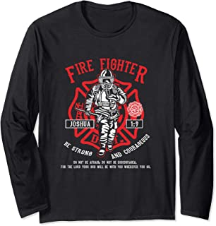 Bible Verse Christian Fire Fighter Shirt Long Sleeve