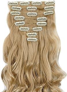 "S-noilite® 17"" (43 cm) extensiones de cabello cabeza completa clip en extensiones de pelo Ombre ondulado rizado - Rubio ce..."