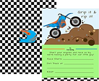 Dirt Bike Motorcycle Themed Party Pack Supply Decor (Little Invitation)