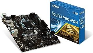 MSI Pro Series B250M PRO-VDH LGA 1151 DDR4 HDMI USB 3.1 Micro-ATX Motherboard