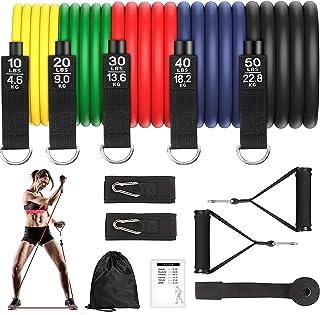 Bandas Elasticas Musculacion 150lbs Gomas Elasticas Fitness 100% Látex Natura con 5 Diferentes Niveles Antideslizante Y Duradero Adecuado Mujer Hombre Piernas Glúteos Brazo Ejercicios