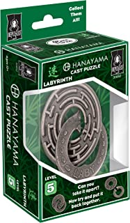 Bepuzzled LABYRINTH Hanayama Cast Metal Brain Teaser Puzzle (Level 5) Puzzles For Kids and Adults Ages 12 and Up