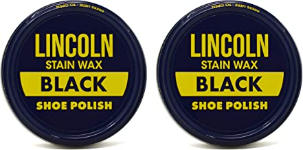 Lincoln Shoe Wax Polish Black 3 Ounces (2 Pack)