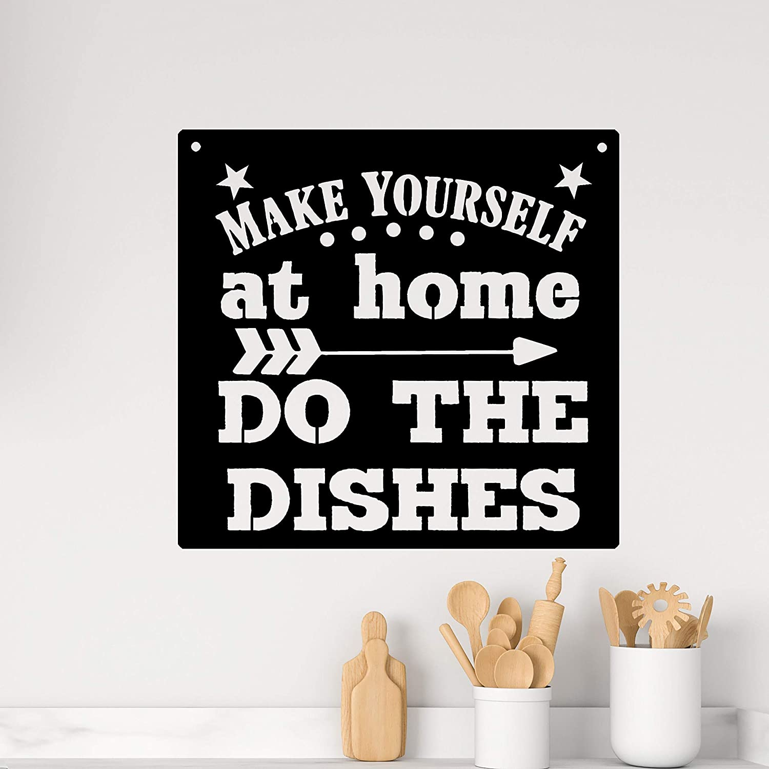 godblessign Make Yourself at Home Do Sign 35% OFF Custo The Low price Dishes Metal