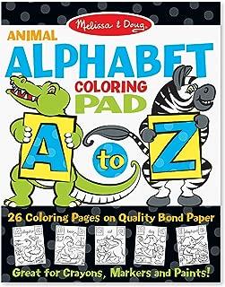 Melissa & Doug 26-Page Animal Alphabet Coloring 11 x 14 Pad, Multicolor