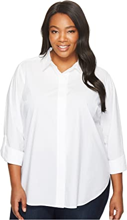 NYDJ Plus Size - Plus Size Wide Placket Shirt