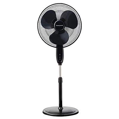 Honeywell Double Blade 16 Pedestal Fan Black With Remote Control