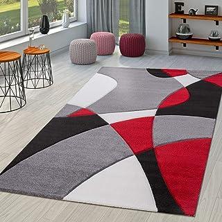 TT Home Alfombra De Salón Moderna Motivo Abstracto Perfil