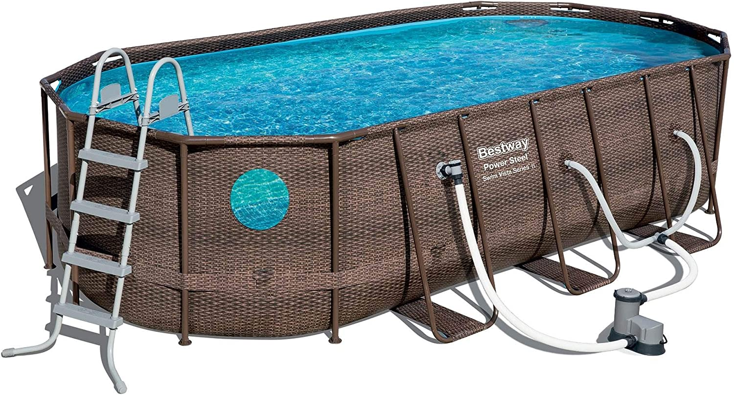 Bestway OFFicial store 18ft x 9ft Finally popular brand 48 inch Swimming Pump and Set Pool Mai with