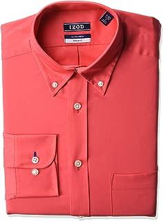 Men's Dress Shirt Regular Fit Stretch Solid Button Down...