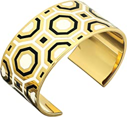 Octagon Geo Enamel Cuff Bracelet