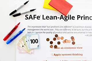 Scaled Agile Kit for Agile Coaches Leading SAFe 4.5 Trainings - Contains Required Office Supplies for 100 Participants - Designed For Current and Traveling SAFe Coaches and Facilitators