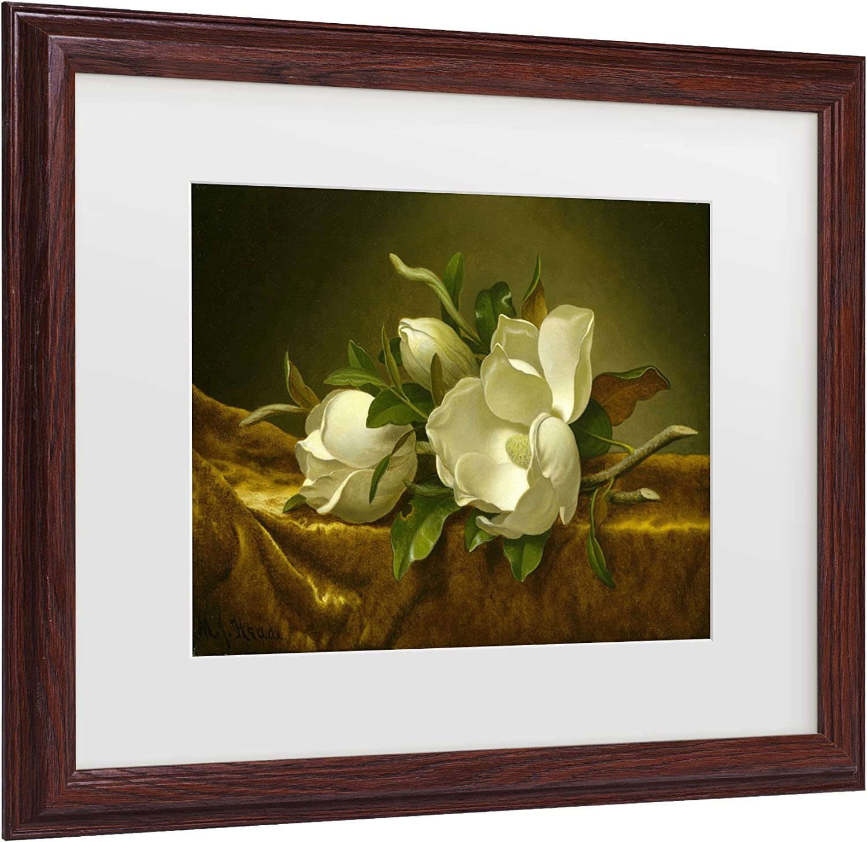 Trademark Fine Art AA00634W1114MF Fine Art, White Matte, Wood Frame 11x14Inch, Multicolor