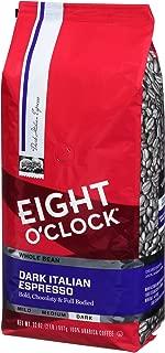 Eight O'Clock Whole Bean Coffee, Dark Italian Espresso, 32 Ounce (Pack of 1)
