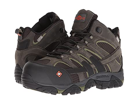 Waterproof Merrell BlackBoulderPewter CT Work Mid Vent Moab 2 vXWnvz