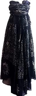 Yak & Yeti womens Om Mantra Scarf black One Size