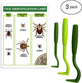 TickCheck Tick Remover Value 3 Pack - Tick Remover Tools + Tick Identification Card - for Humans, Dogs & Cats