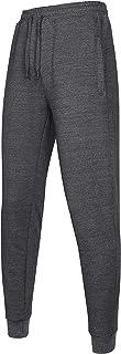 Men's Cotton Slim Fit Jogger Pants Casual Drawstring Track Sweatpants with Elastic Waist and Zipper Pockets