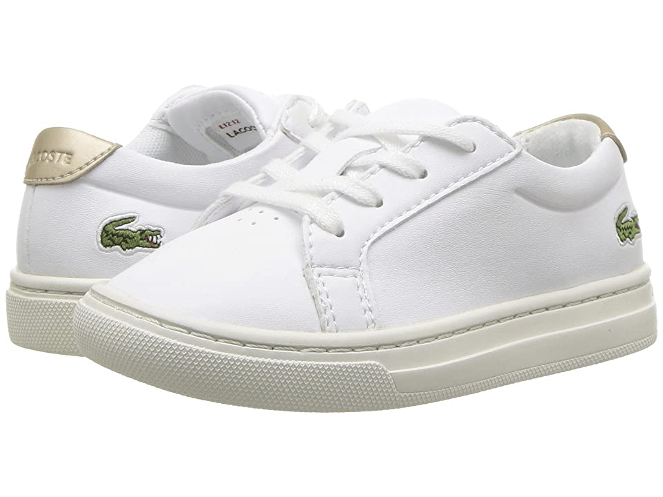 Lacoste Kids L.12.12 (Toddler/Little Kid) (White/Gold) Kids Shoes