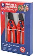 Spear & Jackson CUTTINGSET3 Razorsharp Adjustable Width Bypass and Anvil Secateurs